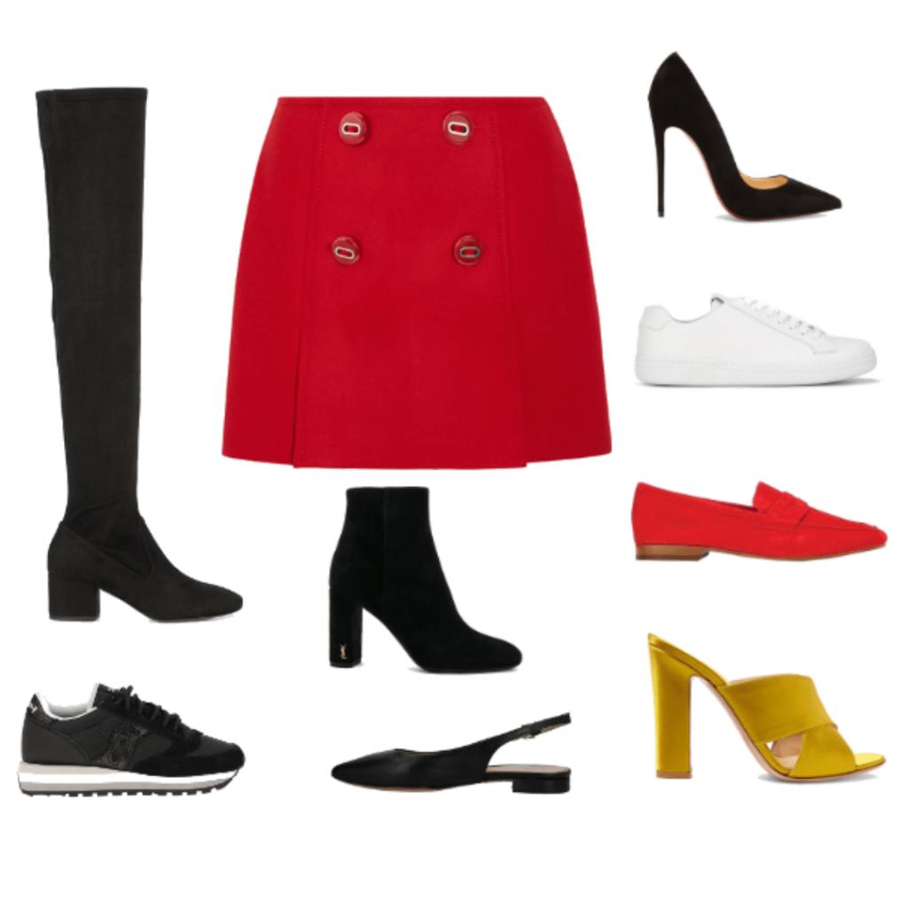 helyes cipőválasztás szoknyához stílus stílustanácsadás